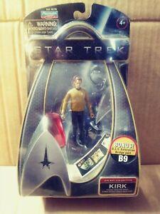Star Trek 2009 movie Playmates action figure Captain Kirk w Bridge part mip