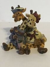 Boyds Bears Resin Stretch And Skye Longnecker The Lookouts 2428 Giraffes No Box