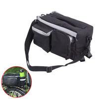 Bicycle Rear Rack Pack Tail Pannier Bag Bike Storage Saddle Bag w/Water Holder