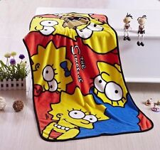 The Simpsons Warm Soft Fleece Bedding Throw Blanket Shawl Rug Cloak Decor NEW