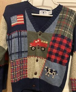 Kitestrings Boys Classic Traditional ButtonUp Cardigan Sweater, Size 8/10 Medium