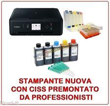 STAMPANTE CANON PIXMA TS-5050 CON CISS PREMONTATO PGI-570 INCHIOSTRO INCLUSO