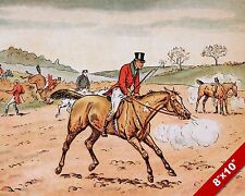 ENOUGH WORK FOR NEXT WEEK FOX HUNT HORSE FOXHUNTING ART PAINTING CANVAS PRINT