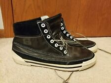 New listing Timberland Leather Mens Sz 11M Black High Top casual Tennis Shoes