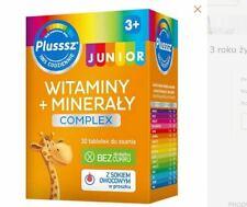 PLUSSSZ JUNIOR TABL.DO SSANIA 30 TABL.witaminy dla dzieci ODPORNOŚĆ