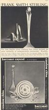 1960 Frank Smith Sterling - Woodlily Print Ad & Ceralene China Trianon PRINT AD