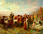 First Thanksgiving At Plymouth Pilgrims  8x10  Art Print