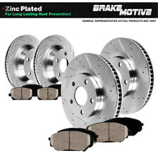 Front Rear Drill Brake Rotor +Ceramic Pad for 01-07 Town & Country Grand Caravan