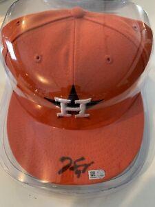 George Springer Signed Houston Astros Hat MLB Coa Autographed New Era