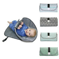 Newborn Kid Foldable Waterproof Baby Diaper Changing Mat Portable P Changing Pad
