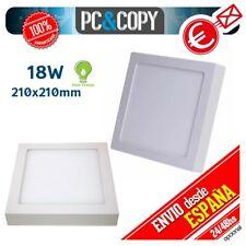 R1129 Plafon Techo Panel LED Superficie 18W Luz Blanca Cuadrado 210mm Downlight