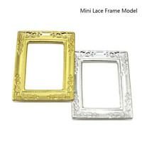1/12 Dollhouse Miniature Mini Lace Gold Retangle Picture Art Frame DIY
