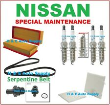 TUNE UP KITS FOR 07-12 NISSAN ALTIMA 2.5L: SPARK PLUGS BELT & FILTERS