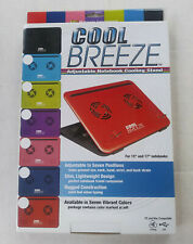 Cool Breeze Adjustable Notebook Cooling Stand Pad - Black
