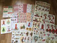 Kathryn Coyle Classic xmas card making kit   Beautiful quality (kitA) 44 sheets