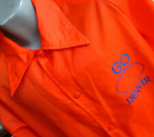 LARGE True Vtg 80's CLASSIC DENVER BRONCOS PAPER THIN WINDBREAKER Jacket USA