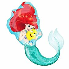 "Disney Little Mermaid Birthday Jumbo 29"" inch SuperShape Foil Mylar Balloon"