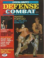 Superfoot Bill Wallace Signed 1975 Karate Defense Combat Magazine PSA/DNA COA