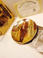 1984 Gone With The Wind Knowles Collector Plate Rhett W Papers And Box