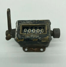 Antique 5 digit Manual Hand Clicker Click Tally Counter Mechanical Vintage Farm