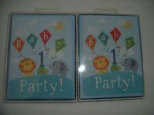 Baby's 1st cumpleaños tarjetas de invitación a estrenar-Clintons - 2 paquetes de 10 en cada una.