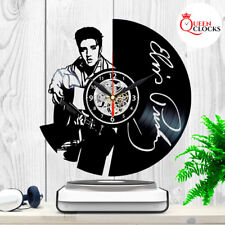 Rare Elvis Presley LP Vinyl Record Wall Clock Great Perfect Best Vintage Gift 45