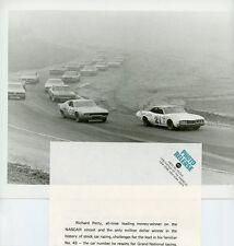 RICHARD PETTY CAROLINA 500 STOCK CAR NASCAR ABC AUTO RACING 1972 ABC TV PHOTO