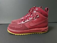 Nike Lunar Force 1 Duckboot Tg UK 10 US 11 (805899-600) Rosso Team