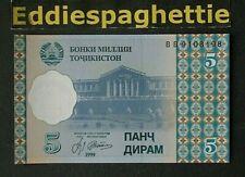 TAJIKISTAN 5 DIRAM 1999 UNC P-11