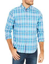 NEW Nautica Long Sleeve Plaid Shirt Aqua