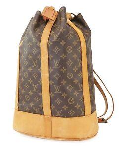 Authentic LOUIS VUITTON Randonnee GM Monogram Backpack Shoulder Bag #40553