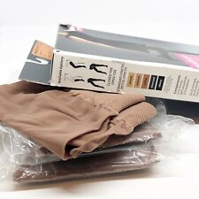 Mediven Lot 3 Sheer Soft Compression Stockings Med 8-15 Natural Closed Toe Calf
