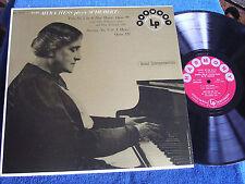 Dame Myra Hess/Schubert Sonata & Trio/Harmony HL 7119/EX+ to MINT-