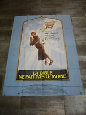 LA BIBLE NE FAIT PAS LE MOINE 1980 Affiche Originale 120x160 Movie Poster