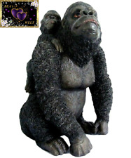 GE0190 Gorilla mit Baby Skulptur Affe Figur Tierfigur ca. 31 cm