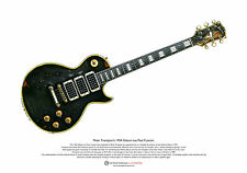 Peter Frampton de 1954 Gibson Les Paul Custom arte cartel A3 Tamaño