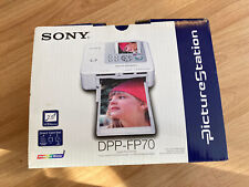 Sony Picture Station DPP-FP70 Digital Color Photo Printer box and photo paper