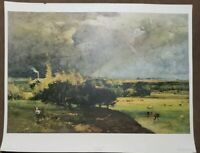 """""""The Coming Storm"""" George Innes Vintage Lithograph Shorewood Publishing 24x28"""""""