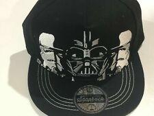 Disneys Starwars Darthvader & Storm Trooper Black Snapback Youth Cap New Sealed
