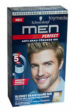 Schwarzkopf MEN PERFECT Anti-Grau Tönung Gel 30 Natur Mittelblond AntiGreyToner