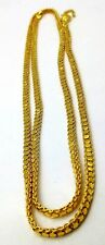 22K GOLD AUTHENTIC BOX CHAIN LINK CHAIN 24 INCHES LONG DESIGNER NECKLACE INDIA