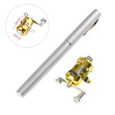 Portable Telescopic Pocket Fish Pen Aluminum Alloy Fishing Rod Pole With Reel