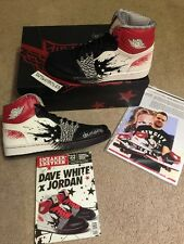 Air Jordan 1 Dave White, Autographed Sneaker & Box, DS Size 9,Sneakerfreaker Mag