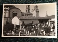 Cemetery Mission Dolores San Francisco California CA Postcard RPPC Real Photo