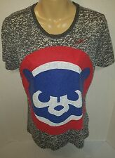Nike Women's Cooperstown Collection Cubs T-shirt pre-owned Sz M Medium (J11)