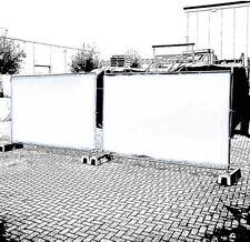 Bauzaun Sichtschutzplane in weiß Bauzaunplane Sichtschutz Sichtblende Schutz