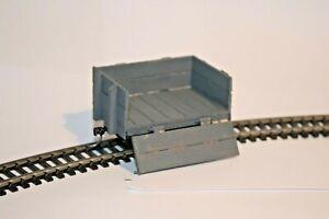 Gn15 1:24 Narrow Gauge freelance scratchbuilt  4 wheel wooden coal wagon Kadee