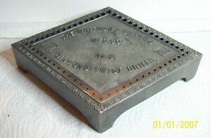 Vtg. Whitman & Barnes Mfg. Co. No. 8 diamond twist drill index for number drills