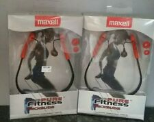 2 Pack Maxell Pure Fitness Sweat Resistant Neckbuds pfit - xt new