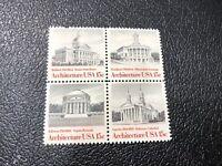 Boston Architecture Stamps, Scott #1782a, 15 Cent, Block of 4